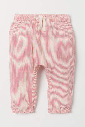 H&M Crinkled Cotton Pants