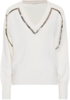 Chloã© Embellished cashmere sweater