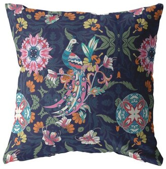 """Bungalow Rose Spina Boho Square Suede Pillow Cover & Insert Size: 18"""" x 18"""", Fill Material: Polyester/Polyfill"""