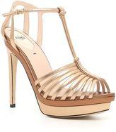 Fendi Laminated Nappa Sandals