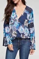 Love Stitch Lovestitch Floral Print Top