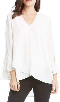 Karen Kane Asymmetrical Slit Sleeve