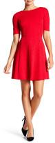 London Times Swirl Textured Fit & Flare Dress (Petite)