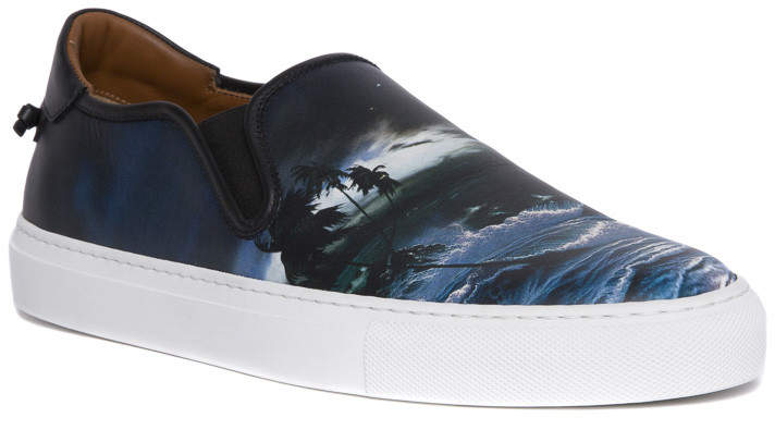 Givenchy 'blue hawaii' print low top sneakers