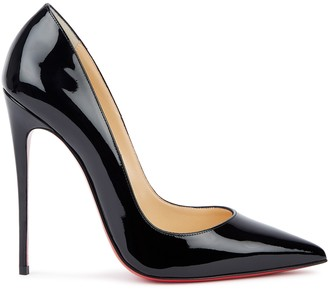 Christian Louboutin So Kate 120 Black Patent Leather Pumps
