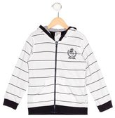 Armani Junior Boys' Striped Hooded Sweatshirt