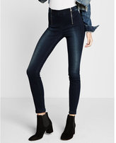 Express high waisted super soft front zips ankle jean legging