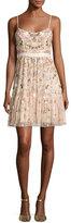 Needle & Thread Blossom Embellished Tulle Sleeveless Dress, Blossom Pink
