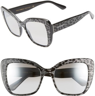 Dolce & Gabbana 54mm Squared Butterfly Sunglasses