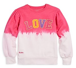 Butter Shoes Girls' Dip-Dyed Graphic Sweatshirt - Little Kid