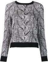 Nicole Miller cable knit jumper