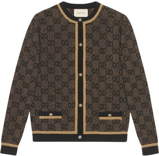 Gucci GG wool cardigan with lamé