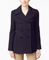 Calvin Klein Wool-Cashmere Double-Breasted Peacoat, Only at Macy's