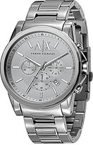 Armani Exchange Silvertone Stainless Steel 3 Hand Chronograph Watch