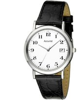 Accurist Men's Analogue Watch MS608WA with Black Leather Strap