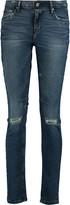 RtA Icon-skinny distressed mid-rise skinny jeans