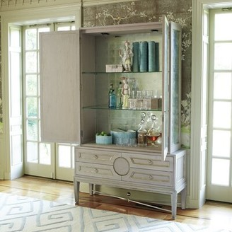 Global Views Armoire Color: Gray
