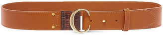 Chloé Lizard-effect And Smooth Leather Belt