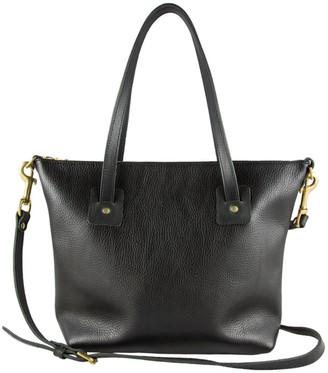 Village Leathers Loretta Leather Tote Bag - Black