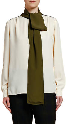 Marni Bow-Neck Georgette Blouse
