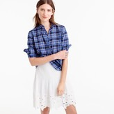 J.Crew Ruffle popover shirt in ocean plaid