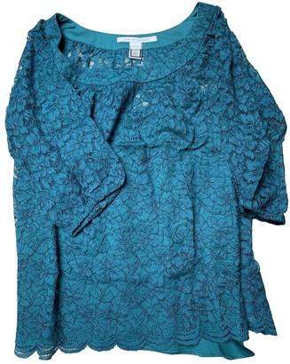 Diane von Furstenberg Green Lace Top for Women