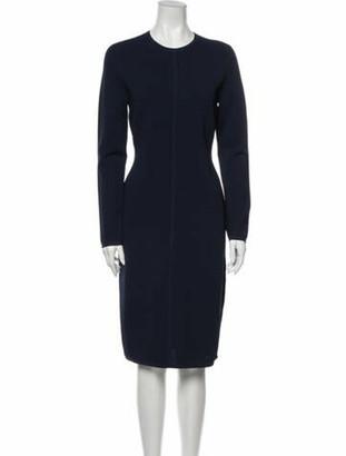 Narciso Rodriguez Crew Neck Midi Length Dress w/ Tags Blue