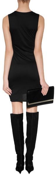 Helmut Draped Jersey Sleeveless Dress