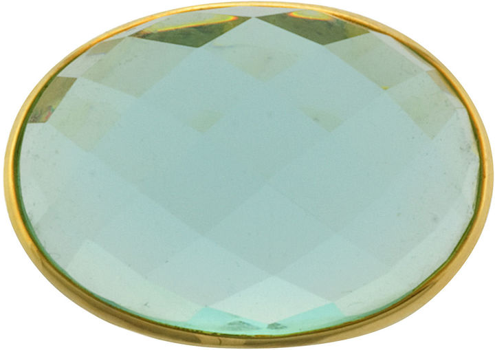 JCPenney FINE JEWELRY ATHRA Aqua Glass Oval Ring