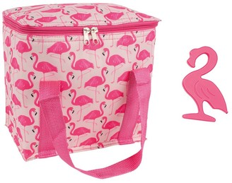 Ladelle Porta Cooler & Ice Block Set Pink Flamingo