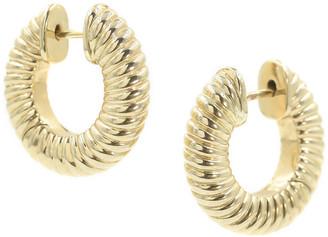 BONDEYE JEWELRY 14 Yellow Gold Lulu Hinged Hoop Earrings