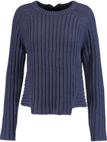 Marc by Marc Jacobs Asymmetric ribbed wool and cotton-blend sweater