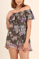 Umgee USA Floral Print Top