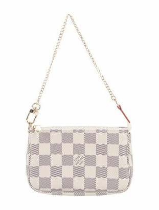 Louis Vuitton 2020 Damier Azur Mini Pochette Accessoires Brass