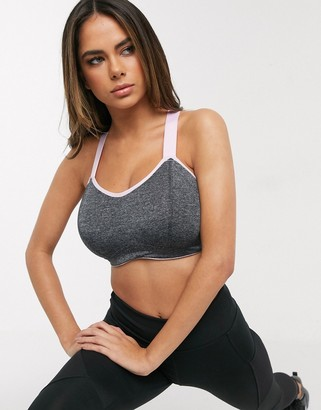 Pour Moi? Pour Moi Fuller Bust Energy sports bra in grey marl