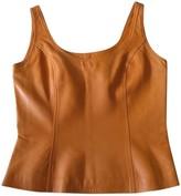 Loewe Orange Leather Top for Women