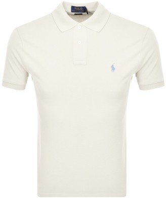 Ralph Lauren Slim Fit Polo T Shirt Cream