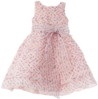 Oscar de la Renta All Over Scribble Silk Dress