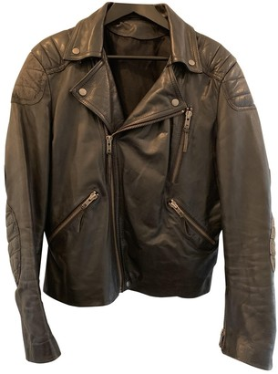 Acne Studios Green Leather Jackets