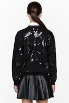 McQ by Alexander McQueen Black Lacquered Swallow Sweatshirt