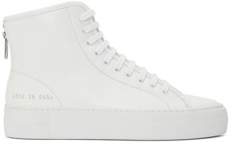 Common Projects White Tournament High Super Sneakers