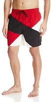 Nautica Men's Diagonal Colorblock Swim Trunk