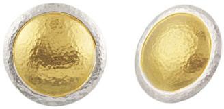 Gurhan Amulet Round Stud Silver Earrings