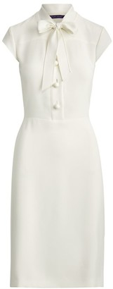 Ralph Lauren Carlisle Tie-Neck Sheath Dress
