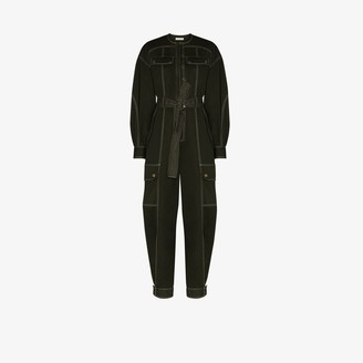 Ulla Johnson Stearling belted cotton jumpsuit