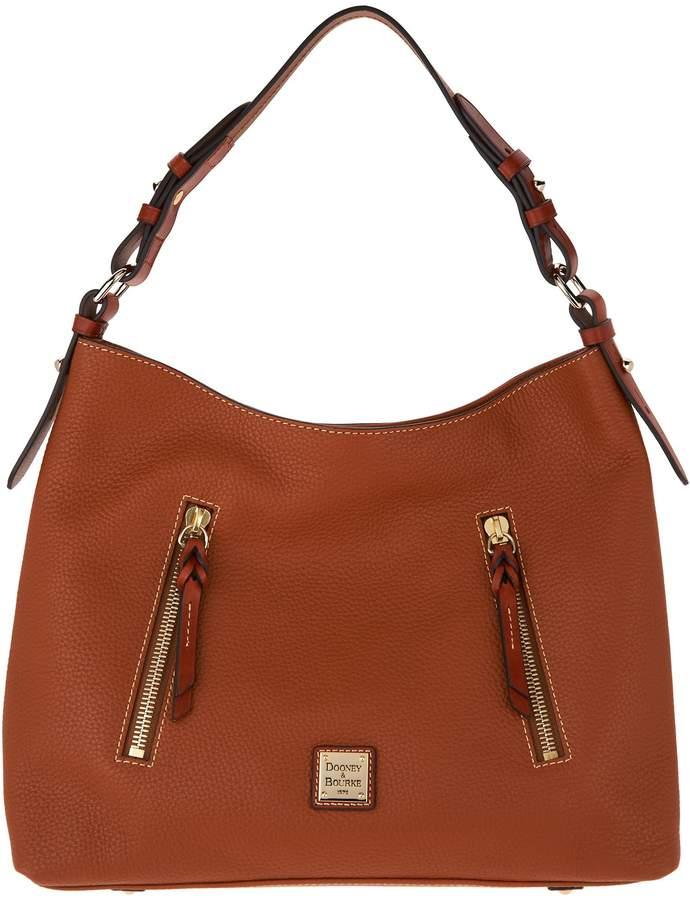 Dooney & Bourke Pebble Leather Hobo Handbag- Cooper