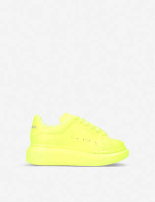 Alexander McQueen Kids Runway leather trainers 4-8 years