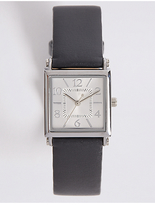 M&S Collection Square Face Strap Watch