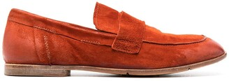 Moma Square-Toe Suede Loafers