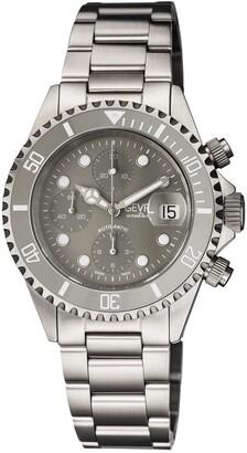Gevril Men's Wall Street Swiss Automatic Chronograph Diver Bracelet Watch, 43mm